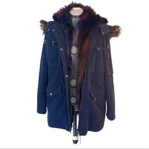 Jocelyn Fur Lined Cargo Coat
